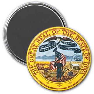 Iowa State Seal 3 Inch Round Magnet