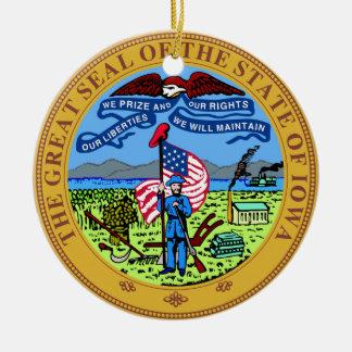 Iowa State Seal Ceramic Ornament