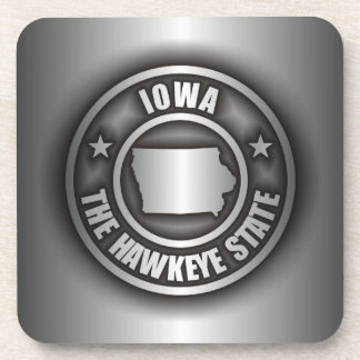 """Iowa Steel"" Drink Coasters"