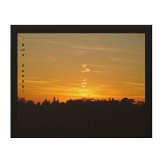 Iowa Sunset Wood Wall Art