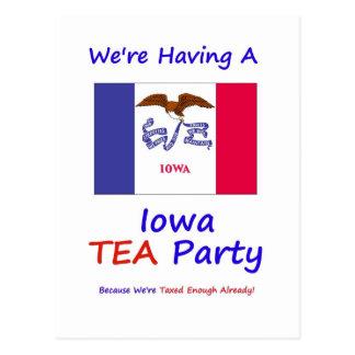Iowa TEA Party - We're Taxed Enough Already! Postcard