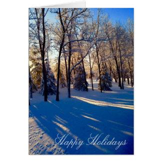 Iowa Winter Morning Scene Holiday Card