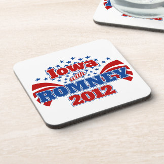 Iowa with Romney 2012 Beverage Coaster