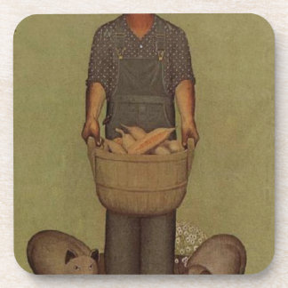 Iowa's Product by Grant Wood Coasters