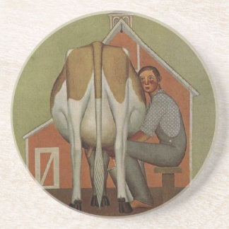 Iowa's Product by Grant Wood Drink Coaster