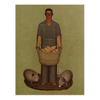 Iowa's Product by Grant Wood Postcard