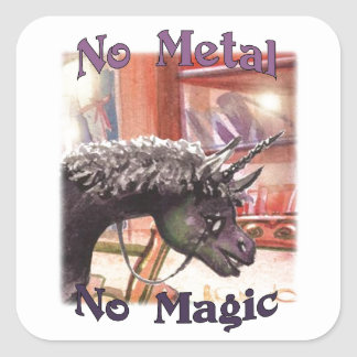 Iown No Metal No Magic Stickers