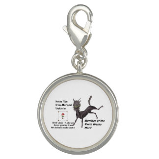 Iown with Herd Info - Round Silver Plated Charm