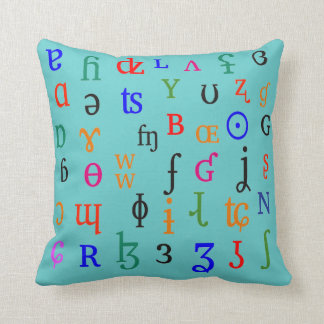 IPA characters Throw Pillow