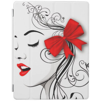 iPad 2/3/4 Smart Cover with girl in red! iPad Cover