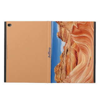 "iPad Air 2 Case, ""The Wave"", Tan Back Powis iPad Air 2 Case"