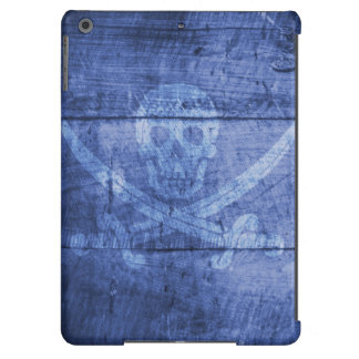 iPad Air, Barely There - Skull Blue Pirate Cover For iPad Air