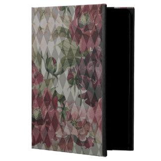 iPad Air Case - Diamond & Flowers Pattern