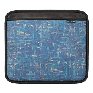 Ipad Case - Blue Abstract Painting By Erika