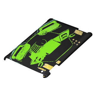 IPad Case- City Car Design- Green Cover For The iPad