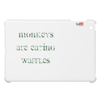 iPad case monkeys are eating waffles!