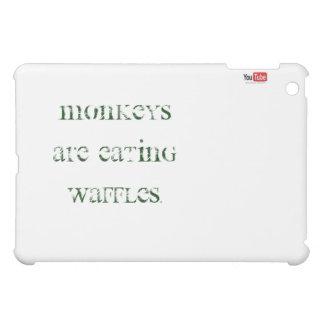 iPad case monkeys are eating waffles!