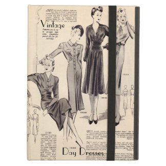 iPad case - vintage fashion pages print