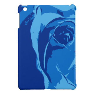 Ipad Case with Blue Rose