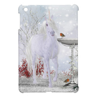 iPad Mini Case With Unicorn Snow And Robin's