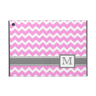 iPad Mini Custom Monogram Grey Pink Chevrons Case For iPad Mini