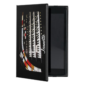iPad Mini Folio Case, Antique Organ, Black Back Case For iPad Mini
