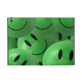 iPad Mini Green smiley faces Cover For iPad Mini