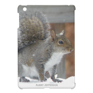 iPad Mini : Personalized Winter Squirrel Case iPad Mini Cover
