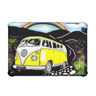 IPad mini retina case camper van yellow