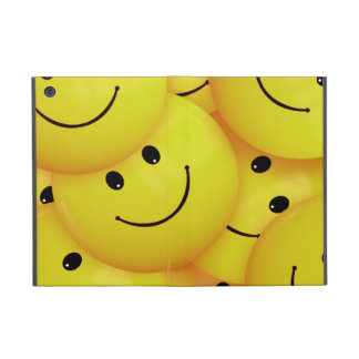 iPad mini yellow smiley faces case