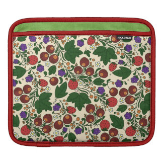iPad pad Horizontal. Pattern with strawberry iPad Sleeves