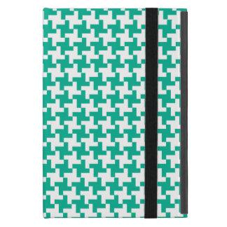 iPad Powis Mini Case Emerald Green Dogstooth Check Cover For iPad Mini