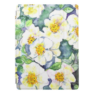 IPad Pro Cover 12.9 Watercolor Flowers Roses