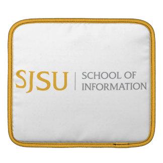 iPad sleeve - gold and grey iScool logo