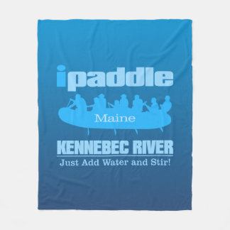 ipaddle (Kennebec River) Fleece Blanket