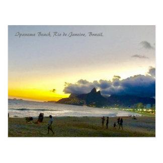 Ipanema Bch, Rio, Brazil, Postcard