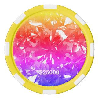Ipanema Bold Gem Stone Clay Poker Chip Stripe Edge