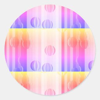 Ipanema Striped Globes Classic Round Sticker