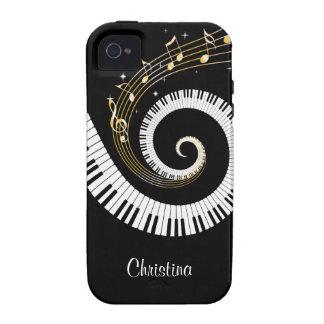 Iphon personnalisable de clés de piano et de notes iPhone 4 case