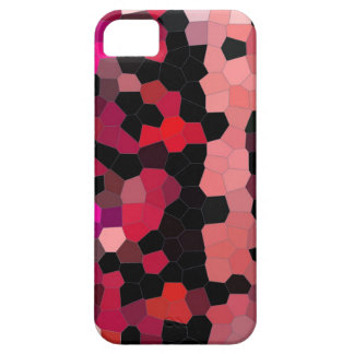 iphone4- case pink black mosaic