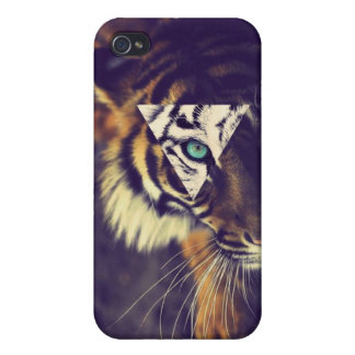 iPhone4 Hipster tiger Case iPhone 4 Case