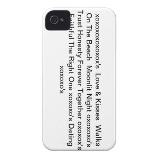 "iphone4case with"" Love & Kisses & xoxoxo's"" Case-Mate iPhone 4 Cases"