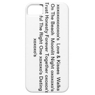 "iphone4case with"" Love & Kisses & xoxoxo's"" iPhone 5 Cases"