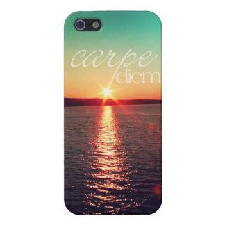 iphone5 case - Carpe diem sunset with typography