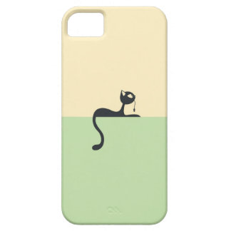 Iphone5 marries with cat art theme case for the iPhone 5