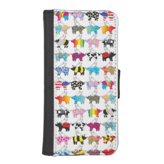 iphone5 wallet case with flying pigs