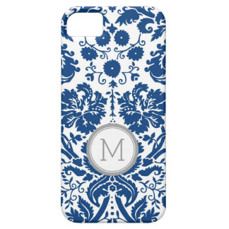iPhone5s Navy Blue Damask Monogram iPhone 5 Cover