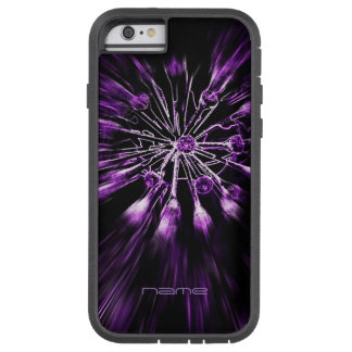 iPhone6S extreme case purple alien flower on black