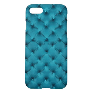 iPhone7 Case with teal blue capitone
