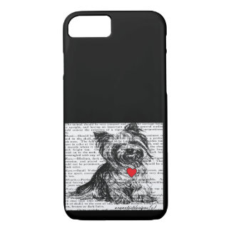 IPHONE7 GIFT CASE- SWEET YORKY-VINTAGE PET PRINT iPhone 8/7 CASE
